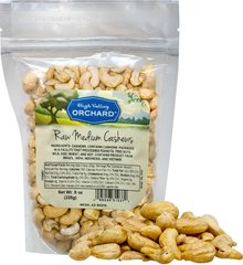 Raw Cashews Delicately flavored and sweet, raw cashews make for the perfect snack. </p><p>Eat right out of the bag or add to salads, stir fry, trail mix or as a topping to your favorite foods.</p> <p>Rich in copper and magnesium, raw cashews are a top seller!  8 oz Bag  $8.99