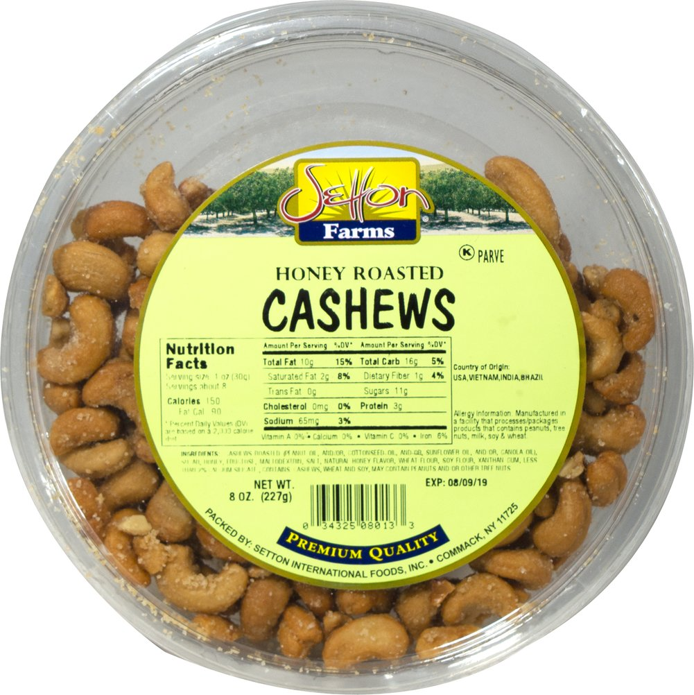 Honey Roasted Cashews Delicious & delectable honey roasted cashews will delight your every taste bud! 8 oz Bag  $8.99