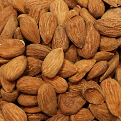 Organic Natural Raw Almonds <p>Nature's finest! Organic raw almonds are one of the  most nutritious nuts around. Eat on the go and great for cooking, baking, and just plain old snacking!<br /></p><br /><p></p> 8 oz Container  $13.99