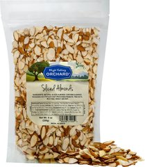 Natural Sliced Almonds <p>Another version of almonds—whole almonds thinly sliced. Sliced almonds are excellent for baking. </p> 8 oz Bag  $8.99