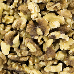 Shelled Walnuts <p>Delicious and fresh walnut halves and pieces out of the shell. Exceptional taste that is perfect for baking, cooking, or as a topping on ice cream, yogurt, salad and more! </p> 8 oz Container  $8.99