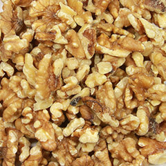 Organic Walnuts 1/2 & Pieces Delicious and fresh organic walnut pieces. Perfect for baking, cooking, or as toppings for cereal, ice cream or yogurt.  5 oz Container  $11.99
