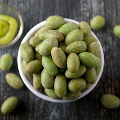 Wasabi Peanuts These Wasabi Peanuts sure have a spicy kick to them! If you love the tasty flavor of wasabi, you love this delicious snack.<br /> 8 oz Bag  $5.99