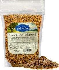 Shelled Sunflower Seeds Roasted Salted Delicious and tasty---sunflower seeds out of the shell are a favorite of nut and seeds lovers alike. Sunflower seeds are a good source of potassium and phosphorous. Roasted & salted. 8 oz Bag  $4.99