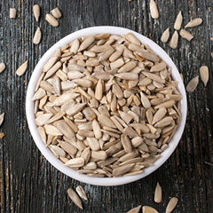 Raw Sunflower Kernels Popular and tasty, Raw and Natural sunflower seeds make a delicious ingredient for salads and cereals, or just to snack on. <p></p><br /><p></p> 8 oz Bag  $4.99