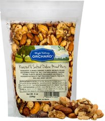 Roasted Salted Deluxe Mixed Nuts <p>Fancy Deluxe Mixed Nuts include only the finest and freshest large cashews, crunchy pecans, brazil nuts, hazel nuts, and almonds. </p> 8 oz Bag  $11.99