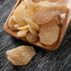 Natural Ginger <div><p>Natural ginger is from the ginger root and is perfect as a spicy snack,  for a cup of tea, or an ingredient in cooking and baking.</p><p>Dried naturally with a unique combination of sweet, spicy, moist and chewy.<br /></p></div> 8 oz Bag  $6.29