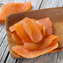 Dried Mango This naturally dried tropical treat is a great way to add fruit to your healthy diet. Dried mango is perfect to add in your meals or snack on it throughout the day.<br /> 8 oz Bag  $7.99