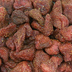Dried Strawberries Sweet and delicious snack! Perfect for cereal, granola, cakes and snacks.  8 oz Bag  $5.99