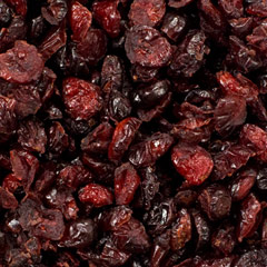 Dried Cranberries     The latest craze in dried fruit! Dried Cranberries are a sweet and delicious snack and can replace or complement raisins in many ways. You can cook and bake with them, throw them in a salad, add to yogurt, ice cream or  cereal for a sweet treat. 8 oz Container  $6.99