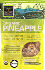 Organic Pineapple Superfood <strong></strong><p>Organic Pineapple Superfood is the perfect snack for powering through a busy work day.   Enjoy the taste of this sweet pineapple while feeling good about eating good!<br /></p><p></p> 1.8 oz Bag  $2.99