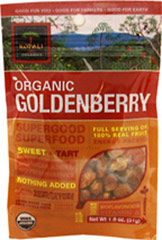 Organic Goldenberry Superfood <b><p>From the Manufacturer:</b></p>  <p>Organic, pure, energy-packed and nutrient-dense. </p>  <p>Kopali Goldenberries are tangy, power treats. They provide bioflavanoids, Vitamin A and are high in fiber.  <p><b>Benefits</b></p> <p>•Certified Organic •Gluten Free </p><p>•Fat Free.• Vegan </p> 1.8 oz Bag  $7.99