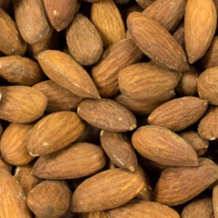 Almonds Roasted, Unsalted Almonds are one of the most nutritious of all nuts. Yummy and delicious, a handful will ward off hunger and tastes great too! These are roasted making them extra tasty. Unsalted.  9 oz Container  $7.99