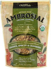 Organic Premium Grecian Grove Granola <p><b>From the Manufacturer:</p></b> <p> Blended apricots, ruby red cranberries and juicy golden raisins with nutrient dense pumpkin, sunflower, sesame and flax seeds and whole grain cereals to create an authentic, all organic granola flavor. </p> <p><b> Features: </b></p> <p> •18% of Daily Fiber per serving </p> <p> • 28g of Whole Grain per serving </p><p> • 6g Protein
