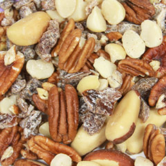 Raw Energy Mix A sweet and savory mix of nuts, seeds, raisins and other wholesome ingredients. 10 oz Container  $13.99