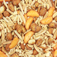 Salty Crunchy Sweet & Spicy Mix Perfect combination of sweet and salty snacks for a flawless combination! Honey roasted peanuts, chili rice bits, soy sauce, almonds, and more! Will satisfy the most wicked craving! 7 oz Container  $7.99