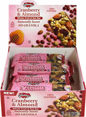 Cranberry & Almond Whole Fruit & Nut Bar <p><strong>From the Manufacturer:</strong></p>Almond Bars are made with luscious fruit pieces and satisfyingly crunchy nuts, then combined with the natural sweetness of honey and brown rice syrup. <p></p><p>These bars contain an energizing boost of 150 calories packed with heart-healthy fats, muscle-building protein and wholesome carbs. Comes 12 to a box; perfect for lunch or after school treats. </p&gt