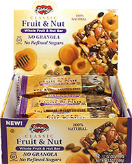 Classic Whole Fruit & Nut Bar <p><b>From the Manufacturer:</p></b> <p>Glenny's Classic Nut & Fruit Bars are made with luscious fruit pieces and satisfyingly crunchy nuts, then combined with the natural sweetness of honey and brown rice syrup. </p> <p>These bars contain an energizing boost of 140 calories of  protein and wholesome carbs. Comes 12 to a box; perfect for lunch or after school treats. </p>  <p><u><p><b&g