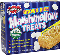 Organic Brown Rice Marshmallow Treats Creamy Vanilla <p><strong>From the Manufacturer:</strong></p>Enjoy the great taste of crispy brown rice drenched in creamy marshmallow. Glenny's Brown Rice Marshmallow Treats are made from whole grain brown rice and Glenny's marshmallow recipe. These truly delicious snack bars are made without dairy commonly used in conventional marshmallow treats. People of all ages love the crispy, chewy, creamy taste these marshmallow bars!