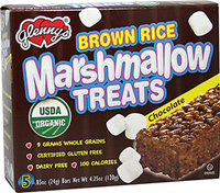 Organic Brown Rice Marshmallow Treats Chocolate <p><strong>From the Manufacturer:</strong></p><p>Enjoy the great taste of crispy brown rice drenched in creamy marshmallow. Glenny's Brown Rice Marshmallow Treats are made from whole grain brown rice and Glenny's marshmallow recipe. These truly delicious snack bars are made without dairy commonly used in conventional marshmallow treats. People of all ages love the crispy, chewy, creamy taste these marshmallow b