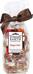Organic Ginger Zest Drops <p>Yummy Earth Organic Candy Drops in Ginger Zest are made of real ginger root extracts.</p><p>•Gluten Free</p><p>•100% Natural Colors</p><p>•100% Natural Flavors</p><p>•Real Fruit Extracts</p> 6 oz Bag  $9.99