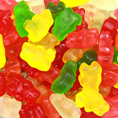 Old Fashioned Gummy Bears One of America's favorite candies!  12 oz Container  $7.99