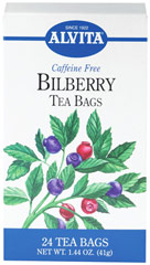 Bilberry Tea <p><strong>From the Manufacturer's Label:</strong></p><p>Caffeine Free</p><p>Bilberry (Vaccinium myrtillus) bears small blue-black many-seeded berries. Also commonly known as whortleberry, Bilberry has been a source of fresh jam among many.<br /></p> 24 Tea Bags  $12.99