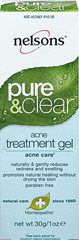 Nelson Bach Pure & Clear Acne Treatment Gel <p><strong>From the Manufacturer's Label: </strong></p><p>Naturally & gently reduces  redness and swelling</p><p>Promotes natural healing without drying the skin</p><p>Paraben free</p><p>Homeopathic Medicine</p><p>The Nelsons Pure & Clear 4 step acne care system works in synergy to create and maintain clear skin naturally and homeopathically.  The Acne
