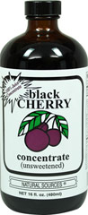Black Cherry Concentrate Unsweetened <p><strong>From the Manufacturer's Label</strong>:<br /></p><ul><li>100% Juice Concentrate</li><li>Unsweetened</li></ul><p><strong>Certification of Quality</strong><br />Natural Sources® use the finest fruit available and process it at low temperatures to retain as much of the natural goodness as possible.   <br /><br />Manufactured