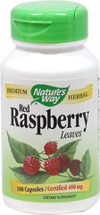Red Raspberry Leaf  100 Vegi Caps 450 mg $6.65