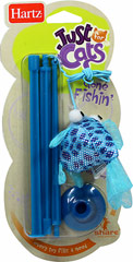 Gone Fishin Cat Toy <strong></strong><p><strong>From the Manufacturer:</strong></p><p>Hartz® Gone Fishin'™ is an interactive toy that will provide hours of fun for you and your cat. The sparkly catnip filled fish is attached to the end of a versatile wand that can be used to tease your cat during playtime or can be suctioned to any hard surface. The elastic string causes erratic movements to make your cat pounce for added play value.</p> 1
