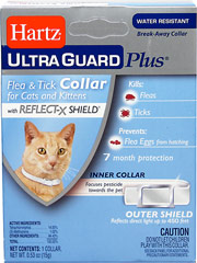 "Ultra Guard Flea & Tick Collars for Cats <p><strong></strong><span class=""t-marker""></span><span class=""t-marker""></span><span class=""t-marker""></span><strong>From the Manufacturer:</strong></p><p>Hartz® UltraGuard Plus™ Flea & Tick Collar for Cats and Kittens kills and repels both fleas and ticks for 7 months plus it kills and prevents flea eggs for up to 7 months, thereb"