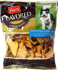 Chicken Flavored Rawhide Chips <strong></strong><p><strong>From the Manufacturer:</strong></p><p>Rawhide is an ideal treat for aggressive chewers and naturally promotes plaque and tartar reduction. Help satisfy your dog's instinctive urge to chew while giving him the benefit of clean teeth and fresh breath with a tasty Chicken basted chew. Your dog will love these chicken flavored rawhide chips!<br /></p> 1 lb Package  $11.69