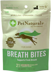 "Breath Bites for Dogs <p style=""margin-bottom:0px;padding-right:0px;padding-left:0px;font-family:Tahoma, Verdana, Arial, 'Helvetica Neue', Helvetica, sans-serif;line-height:normal;background-color:#fafafa;""><strong>From the Manufacturer's label:</strong></p><p style=""margin-bottom:0px;padding-right:0px;padding-left:0px;background-color:#fafafa;""><span style=""font-face:Tahoma, Verdana, Arial, Helvetica Neue, Helvetica, sans-ser"