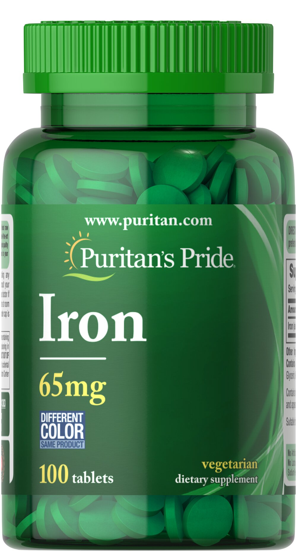 Iron Ferrous Sulfate 65 mg  100 Tablets 65 mg $9.99