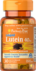 Lutein 40 mg <p>Like other parts of the body, the eyes can be affected by the stresses of time.  Lutein helps to improve vision in low contrast situations, which is essential for night driving.**  Lutein plays a role in the maintenance of eye health and is the principle Carotenoid found in the central area of the retina called the macula.** Carotenoids are fat-soluble antioxidants found in fruits, vegetables, marigolds and other plants.** Adults can take one 40 mg softgel