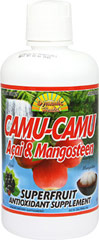 Camu Camu Juice with Acai & Mangosteen <p><strong>From the Manufacturer's Label:</strong></p><p>Dynamic Health Laboratories, Inc. Camu Camu Juice Blend is a unique mixture of antioxidant-rich fruit juice concentrates. <br /><br /><strong>Camu Camu</strong> - is grown wild in the Amazon. It is traditionally used to fight premature aging. It can contain 30 times more Vitamin C per serving than an orange of equal weight.<br /><b