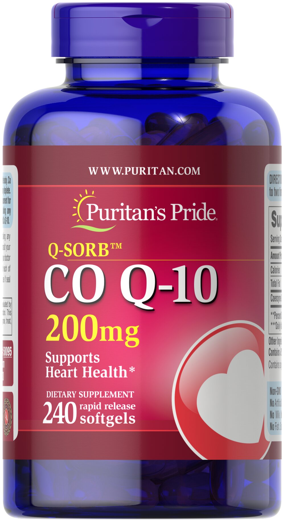 Q-SORB™ Co Q-10 200 mg  240 Rapid Release Softgels 200 mg $79.99