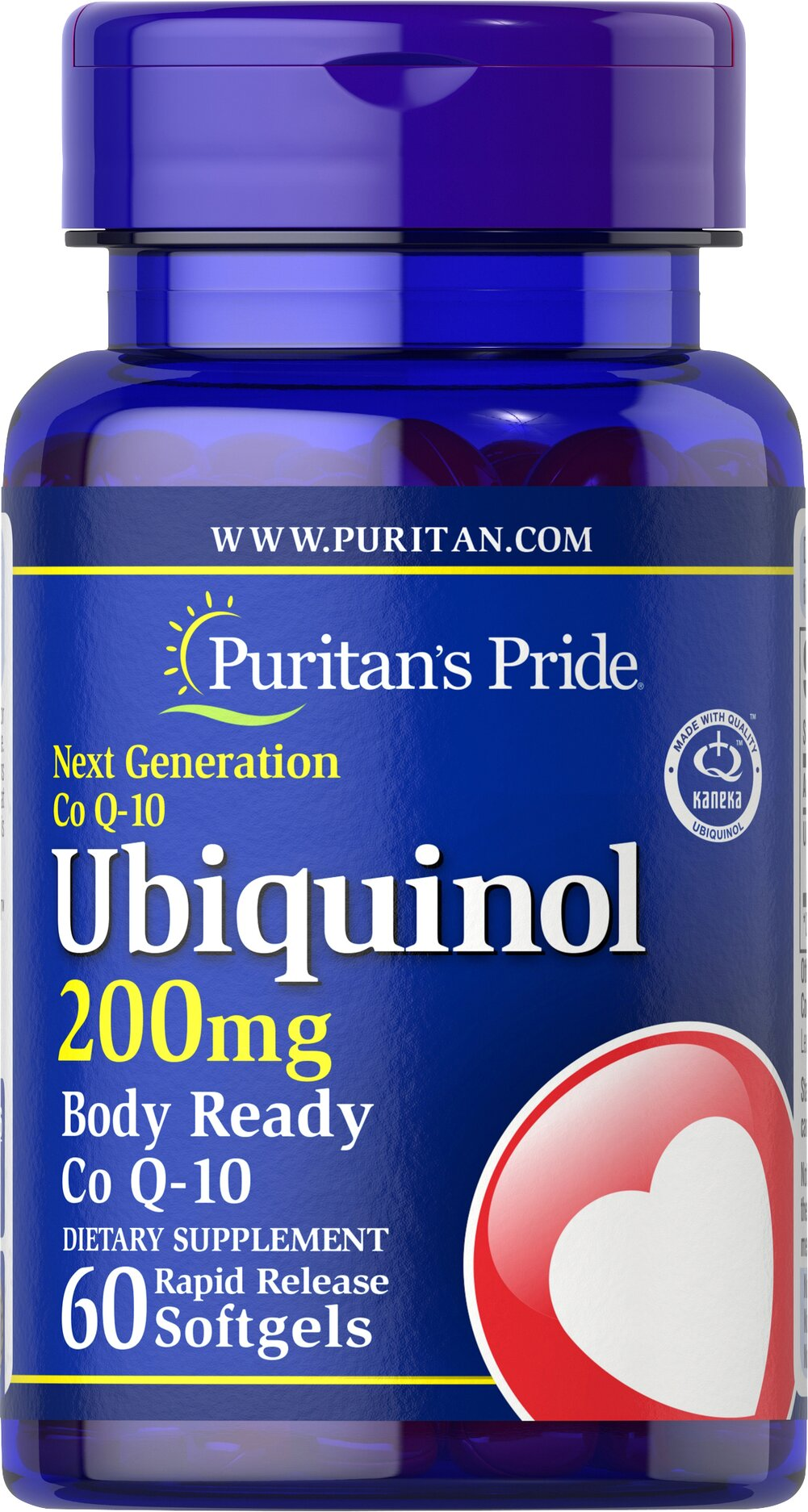 Ubiquinol 200 mg  <p>Advanced, active form of Co Q-10</p><p>Promotes a healthy heart and cardiovascular system.**</p><p>Exceptional antioxidant properties.**</p><p>Ordinary Co Q-10 supplements must be converted in the body to Ubiquinol to provide benefits…so by supplementing with Ubiquinol, you're saving your body a step and reaping healthful benefits right away!**</p><p>Studies indicate that Co Q-10 levels may decline as we age.</p> 60