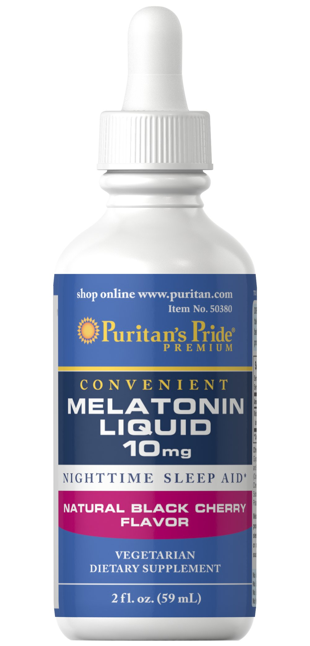 "Melatonin Black Cherry Liquid 10 mg <ul><li><span style=""font-family:'Arial','sans-serif';color:black;"">Nighttime sleep aid.**</span></li><li><span style=""font-family:'Arial','sans-serif';color:black;"">Fast-acting vegetarian liquid formula.</span></li><li><span style=""font-family:'Arial','sans-serif';color:black;"">Delicious natural black cherry flavor.&l"