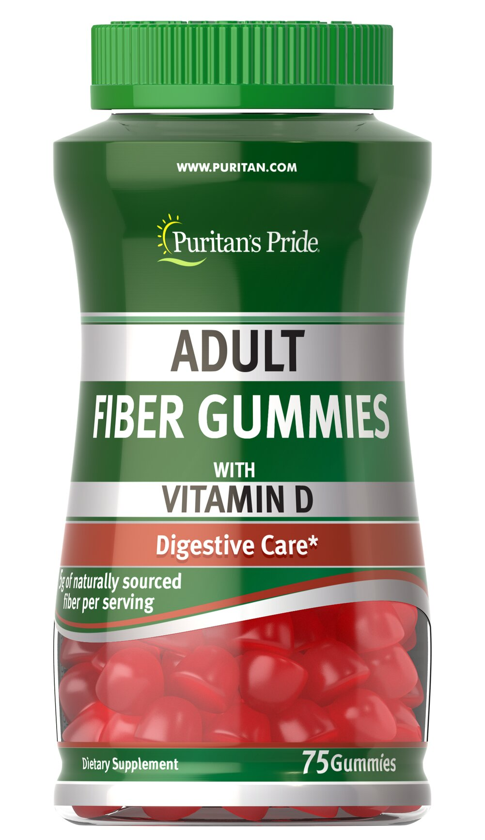 Adult Fiber Gummies with Vitamin D <p><span></span>For Colon & Digestive care.**</p> <p><span></span>Includes Vitamin D.</p> <p><span></span>Gummy vitamin for adults.</p> <p>Adult Fiber Gummies with Vitamin D are a good dietary source of fiber and help move food through the intestinal tract.** As a daily addition to your diet, one serving of Adult Fiber Gummies with Vitamin D contributes up to 5 grams of the fiber