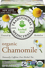 Organic Chamomile Tea <p><strong>From the Manufacturer:</strong></p><p>Caffeine Free Herbal Tea<br /></p><p>Organic Chamomile tea is a calming tea that tastes delicious and helps you to feel relaxed. Enjoy any time of day!<br /></p> 16 Tea Bags  $3.99