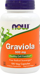 Graviola 500 mg <p><strong>From the Manufacturer's Label: </strong></p><p>Supports Immune Function**</p><p>Positive Mood State**</p><p>Graviola tree (Annona muricata), also known as soursop, is found in the Amazon jungle and some of the Caribbean islands.  Graviola tree leaves have been used traditionally for their  various therapeutic properties.  More recent scientific studies suggest that Acetogenins, the active constituents of Graviol