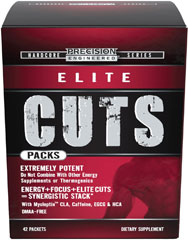 "Elite Cuts Pack <B>From the Manufacturer's Label:</B><P>""Precision Engineered® Cuts Packs were designed for athletes, bodybuilders and anyone training hard in order to get shredded.** We've taken the guesswork out of your supplement stack, so you can focus on training and nutrition instead of what products to combine. Each pack was specifically designed to provide the most cutting edge, energizing and body composition ingredients in sports nutrition in one formula"