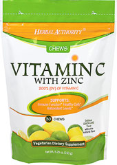 Vitamin C 120mg with Zinc We are proud to bring you Vitamin C with Zinc Chews.  Look to Puritan's Pride for high quality products and great nutrition at the best possible prices.  30 Chews  $14.99