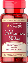 D-Mannose 500 mg <p> D-Mannose helps support the health of the entire urinary tract</p> <p>Traditionally used for general Health.</p> 60 Capsules 500 mg $19.99