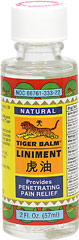 Tiger Balm® Liniment <p><strong>From the Manufacturer's Label:</strong></p><p>Tiger Balm® Liniment's concentrated formulation penetrates quickly and provides effective temporary relief for aches and pains of muscles and joints due to simple backaches, arthritis, strains, bruises and sprains.**</p><p>Manufactured by Tiger Balm®.</p> 2 fl oz Ointment  $6.49