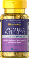 Women's Wellness <p> Balancing Formula</p><p>Helps with Hot Flashes, Night Sweats and Mild Mood Changes**</p><p>Contains Black Cohosh Extract, Vitex, and Thai Kudzu</p>  60 Tablets  $8.99