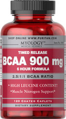 BCAA 900 mg Time Release <p>High Leucine Content!<br />Muscle Nitrogen Support**<br />Timed Release 6 Hour Formula<br /><br />•Our First Ever Timed Release BCAA Formula<br />•BCAAs are especially important for bodybuilders since they comprise a<br />large percentage of the amino acid composition of muscle.**<br />•BCAAs are also the only aminos that are directly metabolized in the muscle<br />as opposed to the liver.<br />•Provides dual