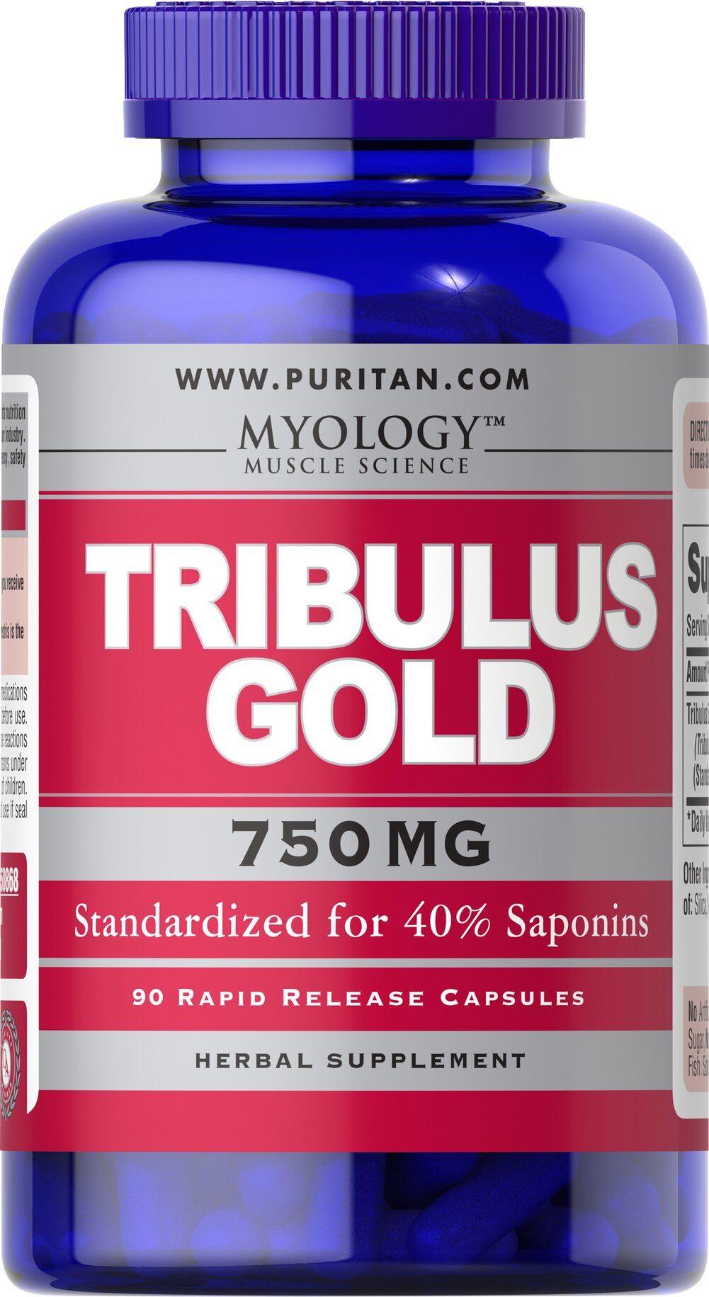 Tribulus Gold Standardized Extract 750 mg  90 Capsules 750 mg $19.99